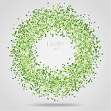 Green square confetti Royalty Free Stock Photos