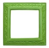Green Square Modern Vibrant Colored Empty Frame Stock Images