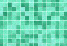 Green Square Mosaic Tile Texture indoors Royalty Free Stock Photo