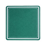 Green square paper coaster isolated on white. It is green square paper coaster isolated on white Stock Photo