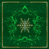 Green Square Snowflake Stock Images