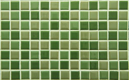 Green square tiles pattern Stock Photo