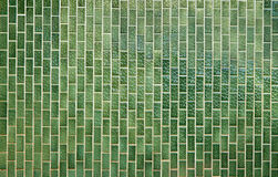 Green square tiles pattern Stock Photography