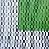 Green square on white background with little holes Stock Images