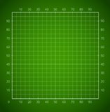 Green squared paper sheet. Royalty Free Stock Photos