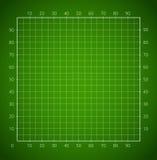 Green squared paper sheet. Royalty Free Stock Photos