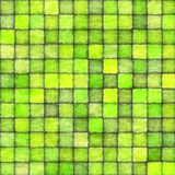 Green squared seamless background Stock Image
