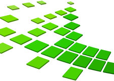 Green squares Stock Photo