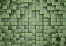 Green squares background Stock Photos