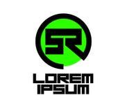 Green SR Logo Design Stock Photography