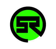 Green SR Logo Design Stock Image