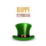 Green St. Patrick Day hat. St.Patrick day greeting. Happy St Pat Royalty Free Stock Image