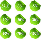 Green St. Patrick's Day glossy Sale stickers Stock Photos