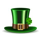 Green St. Patrick's Day hat with clover Royalty Free Stock Image