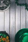 Green: St. Patrick's Day Party Items Background Stock Image