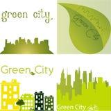Green staden Arkivfoton