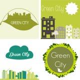 Green staden Arkivbild