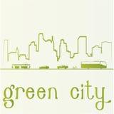 Green staden Arkivfoto