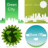 Green staden Fotografering för Bildbyråer