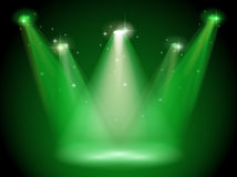 Green stage Stock Photography