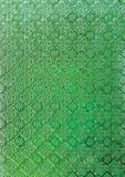 Green stained glass antique background royalty free stock photography