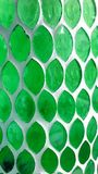 Green stained glass Royalty Free Stock Image
