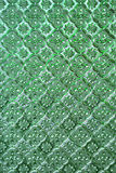 Green of stained glass texture pattern background. Royalty Free Stock Image