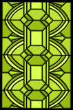 Green stained glass window design royalty free illustration