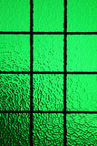 Green stained glass window Royalty Free Stock Photos
