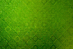 Green stained glass. Window texture Royalty Free Stock Photography