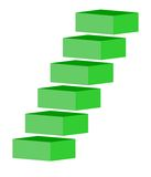 Green stairs Stock Photography