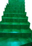 Green stairs. On white background Stock Photo