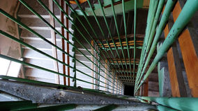 Green stairs to nowhere Royalty Free Stock Photo