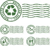 Green stamp Royalty Free Stock Photo
