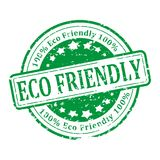 Green Stamp - eco friendly. Damaged round green stamp with the word - eco friendly - illustration Royalty Free Stock Image