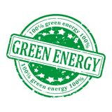 Green Stamp - Green Energy Royalty Free Stock Photos