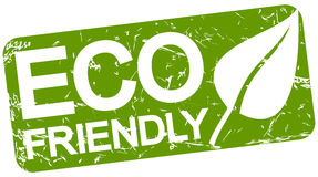 Green stamp with text ECO FRIENDLY Royalty Free Stock Image