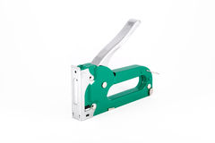 Green Staple Gun Stock Photo
