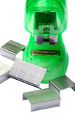 Green Stapler Stock Photography