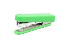 Green stapler isolate. Green office stapler isolated on white background royalty free stock photo