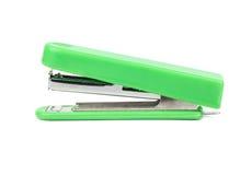 Green stapler isolate. Green office stapler isolated on white background stock images