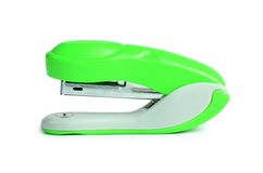 Green stapler isolated on white background Royalty Free Stock Image