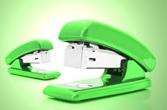 Green Staplers Stock Images