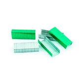 Green Staples isolated Royalty Free Stock Photo