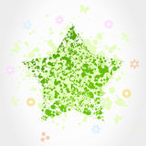 Green star Royalty Free Stock Images