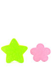 Green Star. On white background Royalty Free Stock Photo
