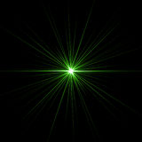 Green star. Isolated on black Royalty Free Stock Photos