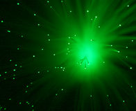 Green Star. Fantasy, light.Green flare.Space kind of the ordinary fixture Stock Image