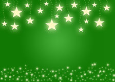 Green star background Stock Image
