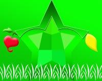 Green Star Background.  Wallpaper Stock Image